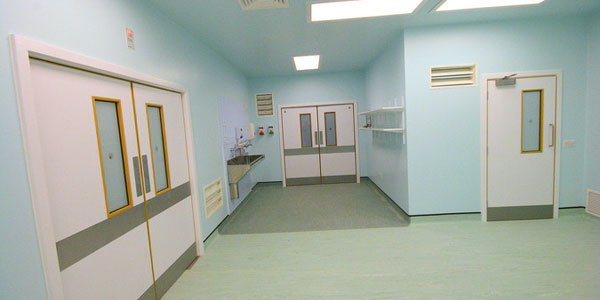Bespoke Veneered Doors in a Hospital Ward