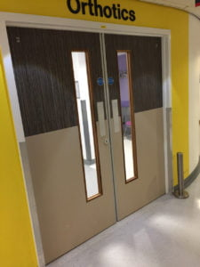 Double Door with Vision Panels